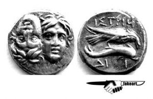 Counterfeit of Drachma Moesia Istros 4th Century BC