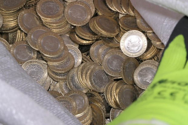 2 euro counterfeit coin shop opened by employees of the State Security Service in Plovdiv