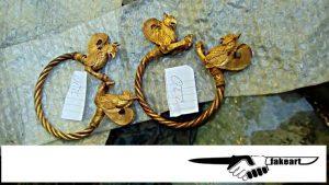 Massive gold bracelets
