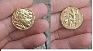 Alexander's gold coin