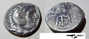 A rare tetradrachm of Alexander the Great.